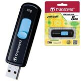 Флэш-диск 8 GB, TRANSCEND Jet Flash 500, USB 2.0., черный
