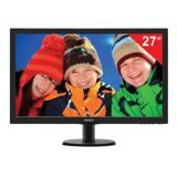 "Монитор LED 27"" (69 см) PHILIPS 273V5LSB, 1920x1080, TN+film, 16:9, DVI, D-Sub, 300 cd, 5 ms, черный"