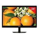 "Монитор LED 24"" (61 см) PHILIPS 246V5LHAB, 1920x1080, TN+film, 16:9, HDMI, D-Sub, 250 cd, 5 ms, черный"