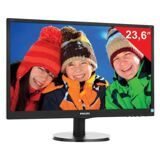 "Монитор LED 23,6"" (60 см) PHILIPS 243V5LAB, 1920x1080, TN+film, 16:9, DVI, D-Sub, 250 cd, 5 ms, черный"