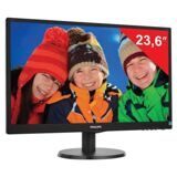 "Монитор LED 23,6"" (60 см) PHILIPS 243V5LSB, 1920x1080, TN+film, 16:9, DVI, D-Sub, 250 cd, 5 ms, черный"